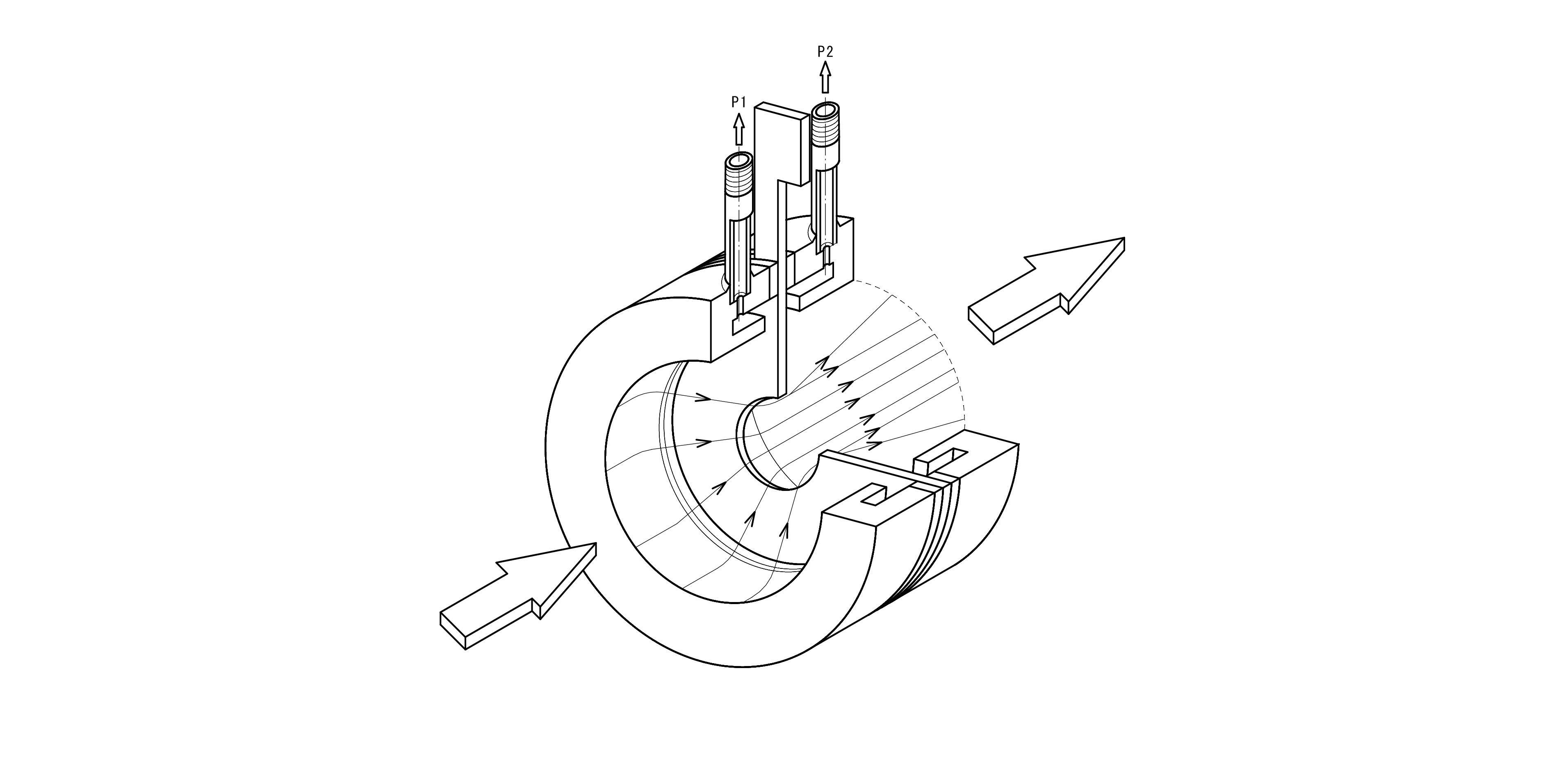 オリフィスリングアッセンブリー断面構造図面