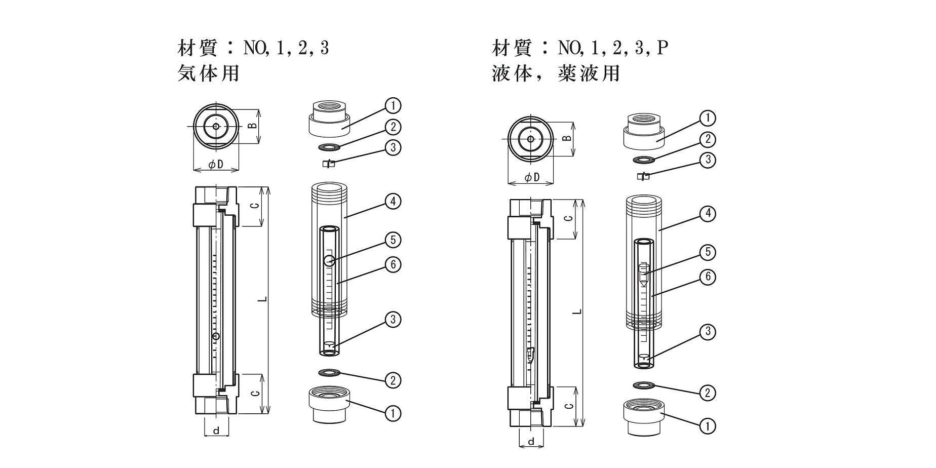 FK-AS二重管分解構造図面