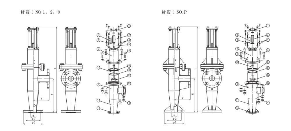 FK-MS 分解構造図面