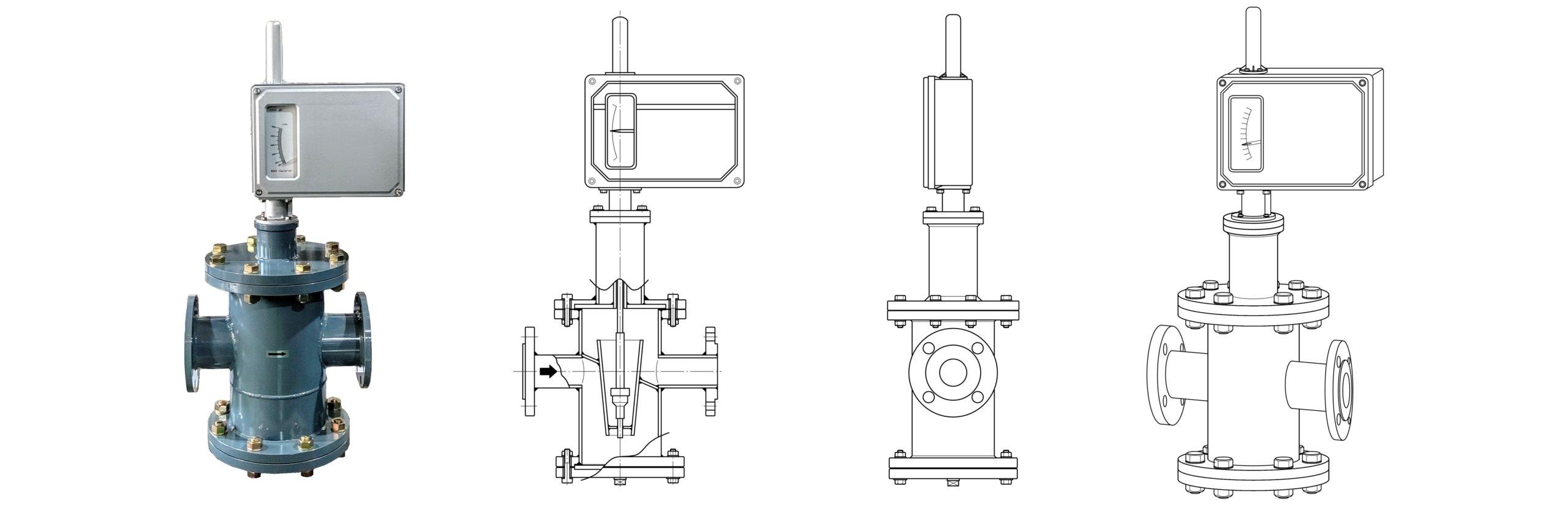 FK-HE series(全金属水平配管流量計)